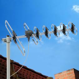 200 Miles Outdoor Amplified TV Antenna Digital HDTV 1080p Lo
