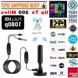 HD 1080P 4K Digital Indoor Amplified TV Antenna With Amplifi