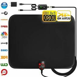HD Digital TV Antenna Long 130+ Miles Range 18ft Coax Cable/