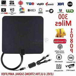 Indoor HD TV Antenna High Definition 300 Mile Range with Det