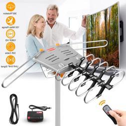 HDTV 1080P Outdoor Amplified Antenna 360 Rotor Digital HD TV