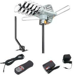 HDTV 1080P Outdoor Amplified Rotation Antenna HD TV 36dB UHF