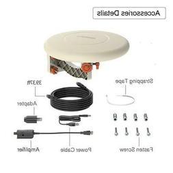 HDTV Amplified TV Antenna 360° Omni-Directional 34dB HD 108