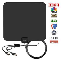 HDTV Antenna, 60-80 Miles Range Amplified HDTV Antenna with