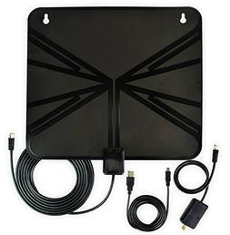 HDTV Antenna, Indoor Amplified HDTV Antenna 50 Mile Range wi