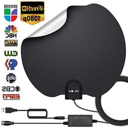 HDTV Antenna,Indoor Digital TV Antennas Amplified 140+ Miles