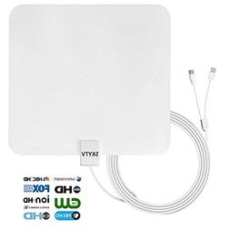 HDTV antenna-50 Mile Digtial TV Antennas with Built-in Ampli