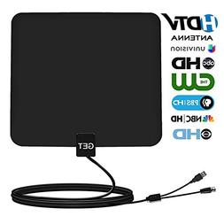 HDTV Antenna – Get 50 Mile Range Digital TV Antenna with 1