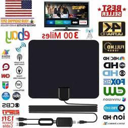 HDTV Antenna Indoor 1080P 4K HD 300 Miles Ultra Thin TV Sign