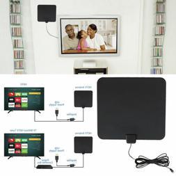 HDTV Flat HD Digital Indoor Amplified TV Antenna with Amplif