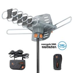 200 Miles Outdoor TV Antenna Amplified Motorized HDTV 1080P