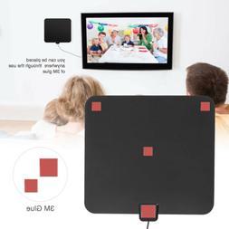 Amplified TV Antenna View Range Flat HD Digital with Amplifi