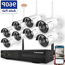 Home Security Camera System Wireless,SMONET 8CH 960P Wireles