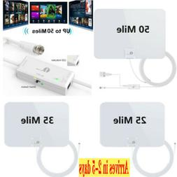 1Byone Indoor Amplified HDTV Antenna 1080p HD FM/VHF/UHF 28d