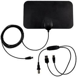 Indoor Amplified HDTV High Reception 35-50 Miles VHF UHF Ant