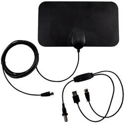 Indoor Amplified HDTV High Reception 35-50 Miles Antenna for