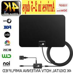 1byone Indoor Amplified HDTV TV Antenna 1080p HD FM/VHF/UHF