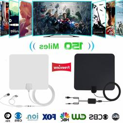 Indoor Digital HDTV Antenna 150 Miles 4K HD TV Antennas DVB-