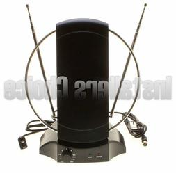 Indoor Digital TV Antenna Table Amplified Signal Booster HDT