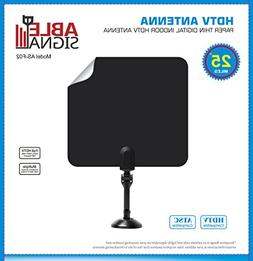 Able Signal INDOOR PAPER THIN FLAT HDTV TV ANTENNA 25 MILES
