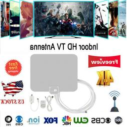 1byone Indoor TV Antenna FM UHF VHF 1080P HD Signal 100 Mile