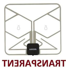 INVISIBLE HD TV WINDOW DIGITAL ANTENNA W/ DTV Booster CAMP R