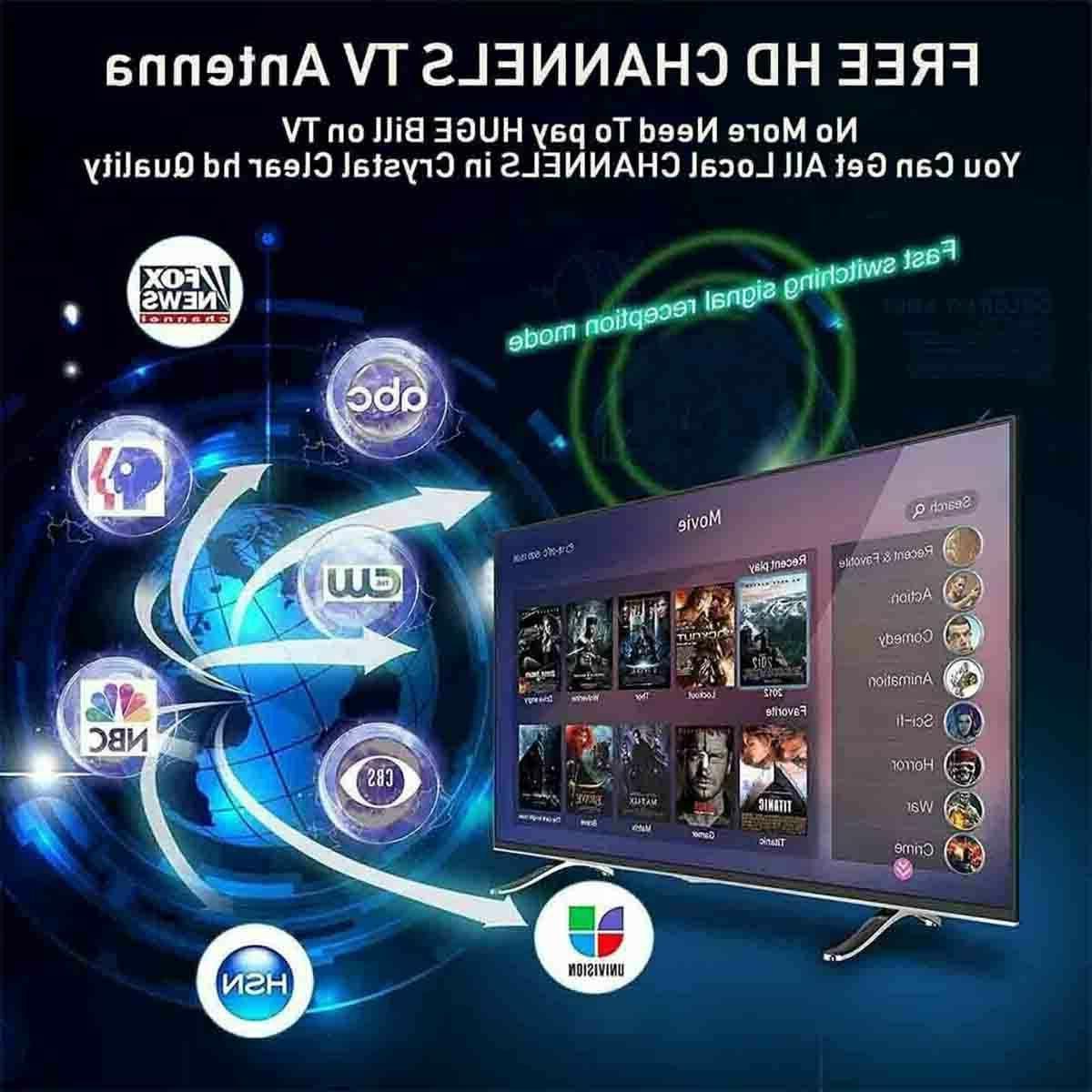 1000 miles TV Antenna Indoor Outdoor HD 4K 1080P