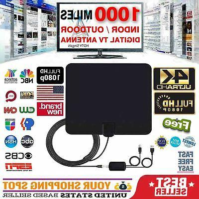 1000 miles range antenna tv digital hd