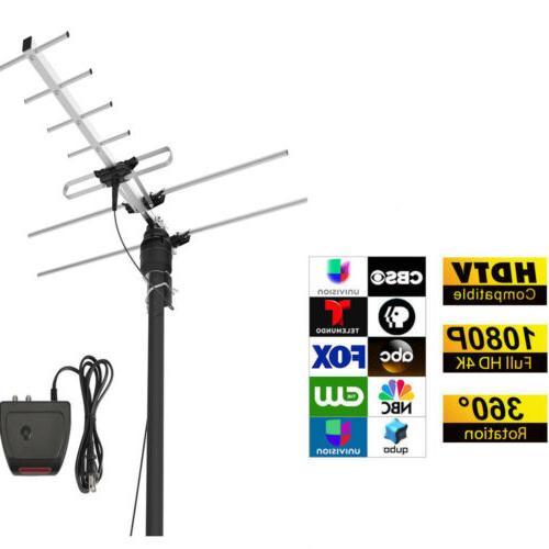 1080p amplified digital tv antenna outdoor hdtv