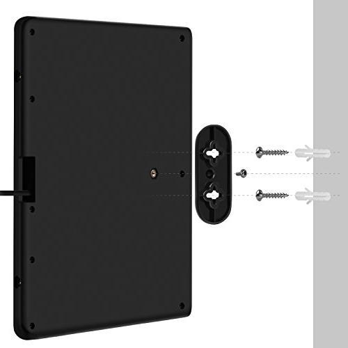 AliTEK Amplified TV Antenna - Upgraded Antenna, Black