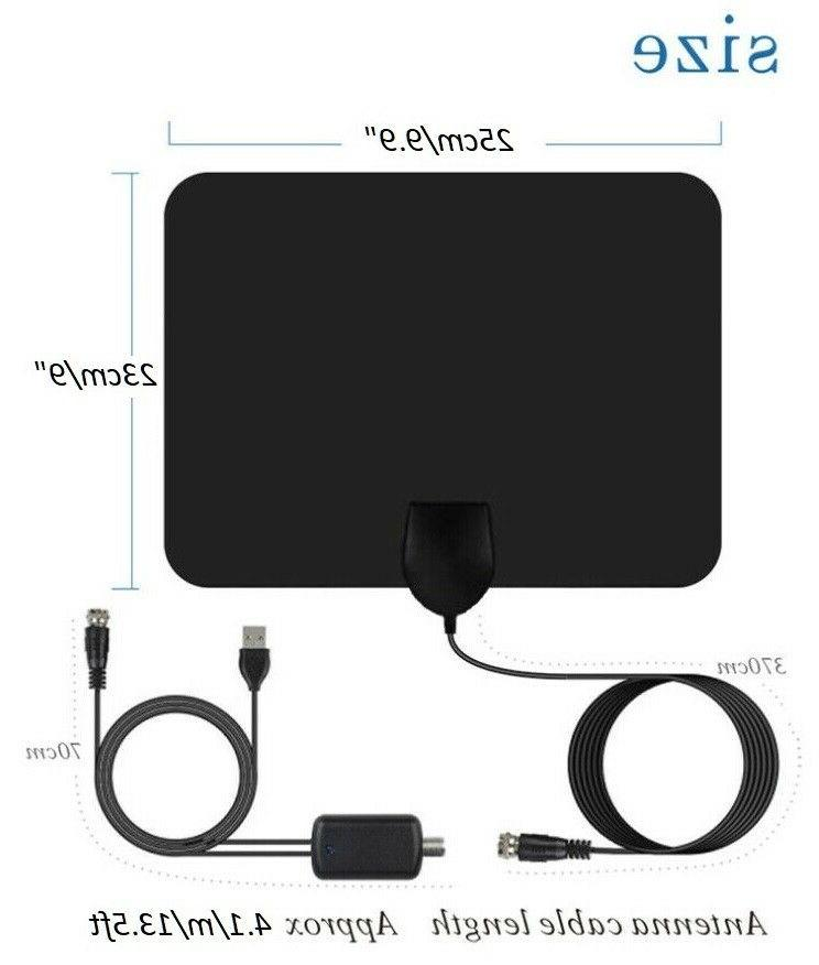 Newest Indoor Amplified TV Antenna HDTV 4K 1080P Miles