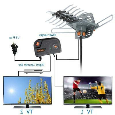 180Miles Outdoor Digital TV Antenna Amplified Motorized HDTV