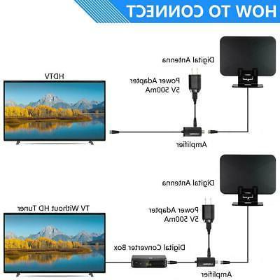 150Miles Amplified HDTV TV Antenna VHF/UHF