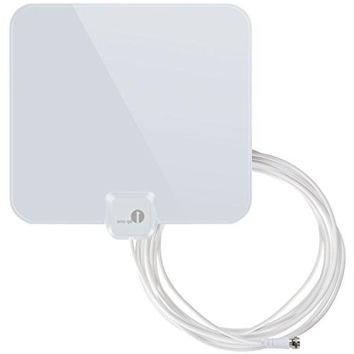 1byone Thin and Shiny Indoor HDTV Antenna, 25 Miles Range wi