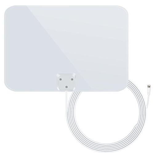 1byone Thin Shiny Indoor HDTV Antenna, 35 Miles Feet High Cable
