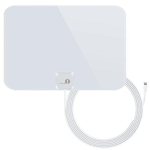 1byone Thin and Shiny Indoor HDTV Antenna, 35 Miles Range wi