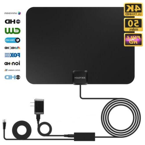 1byone Outdoor Amplified TV Antenna Digital Indoor HDTV High