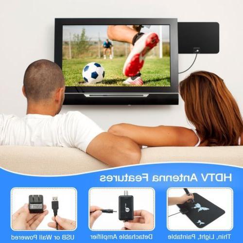 1byone Amplified TV Antenna Digital Indoor Gain 50 VHF
