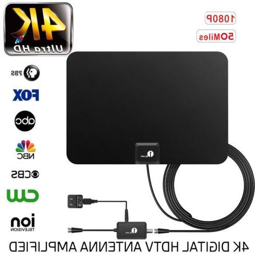 1byone amplified tv antenna digital indoor hdtv