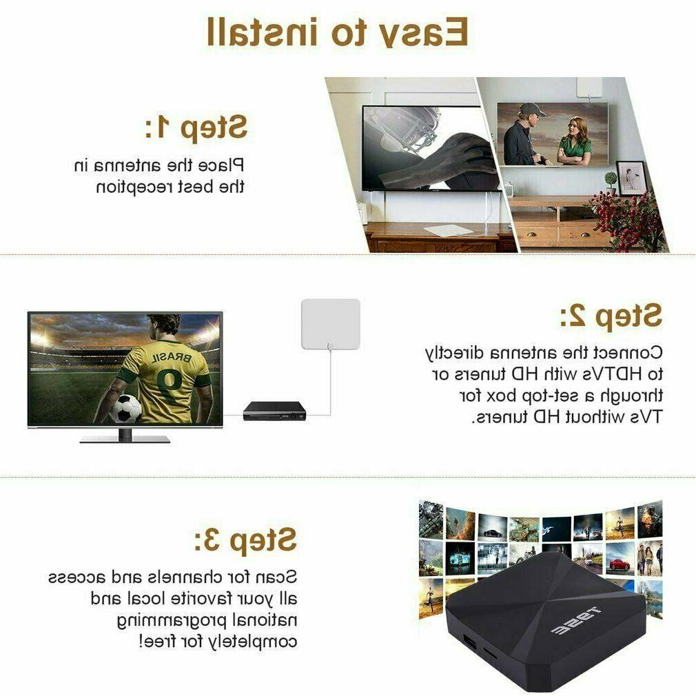 200Mile Aerial HD Digital TV Signal Amplifier Indoor