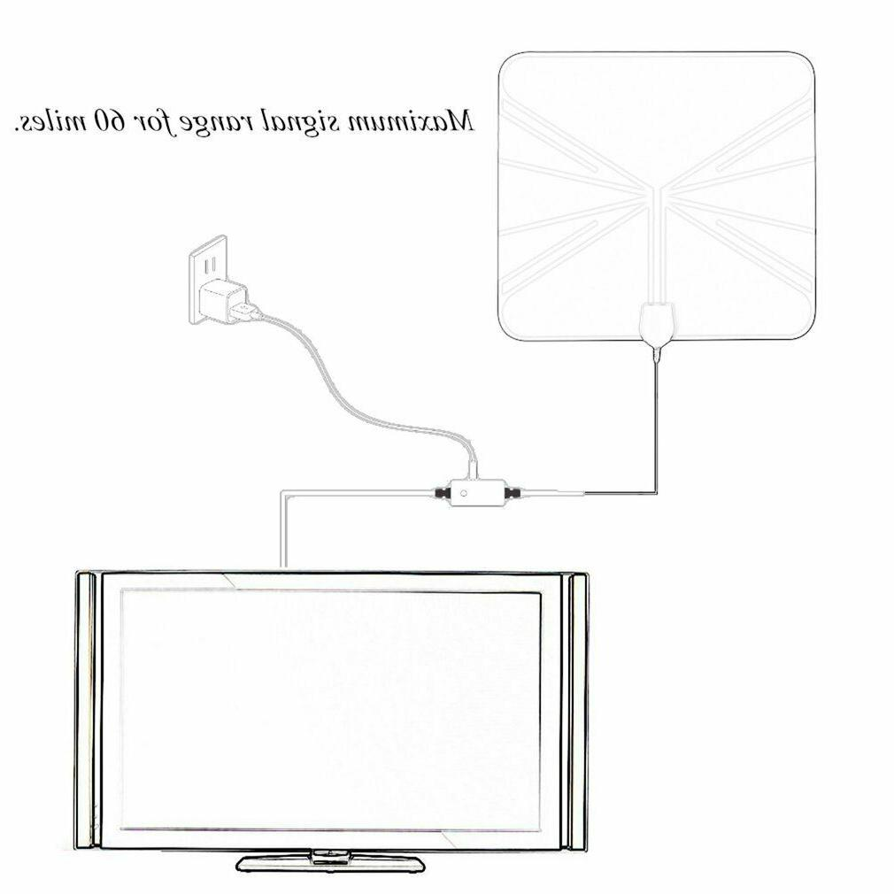 200Mile HDTV Antenna HD Amplifier Indoor