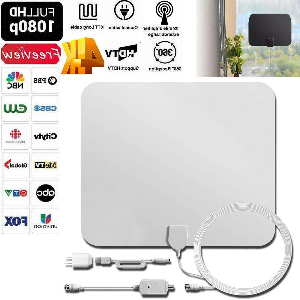 200 mile hdtv indoor antenna aerial hd