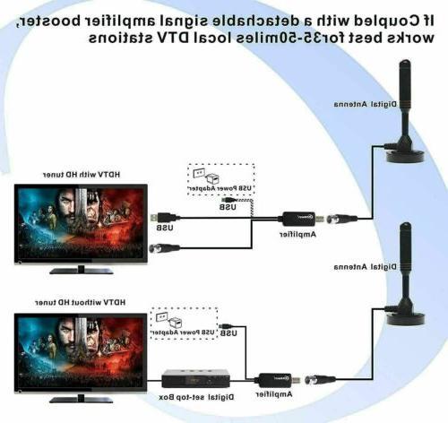 200 Mile Range TV Digital 4K Antena Digital HDTV