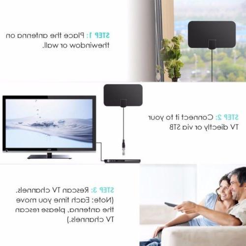 200 Range TV 4K Antena Digital Indoor HDTV