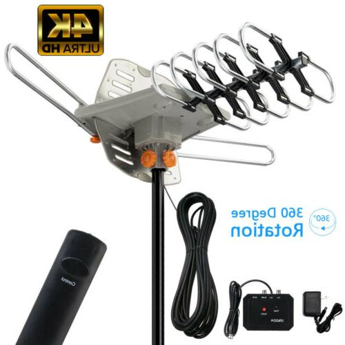 200 mile tv antenna amplified outdoor digital