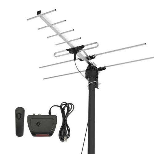 45Mile Reception Range Outdoor TV Antenna HDTV Digital Ampli