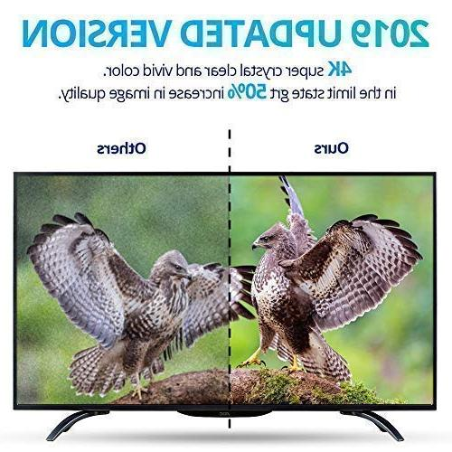 【2019 Latest】Amplified HD TV Miles TV HD Freeview Life Local All Type w/Detachable Signal and 16.5ft Longer Coax