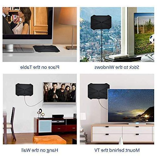 【2019 Latest】Amplified HD TV Miles TV 4K All Type Signal 16.5ft Longer Coax