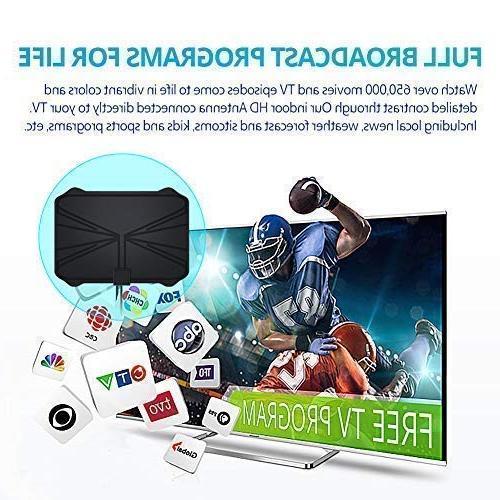 TV Long Miles Range – TV HD Freeview All Type Signal Amplifier 16.5ft Longer Coax