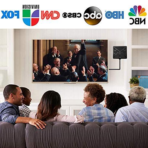 2019 Newest Range HDTV Antenna, Antenna HD Free Channels Antenna 4K 1080P - High